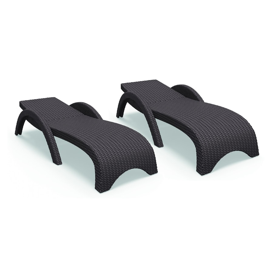 resin chaise lounge chairs chair covers indianapolis compamia miami wickerlook set of 2 wicker stackable with woven