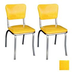 Retro Chrome Chairs Electric Stair Chair Lift Cost Richardson Seating 50s Contemporary Cracked Ice Yellow Side