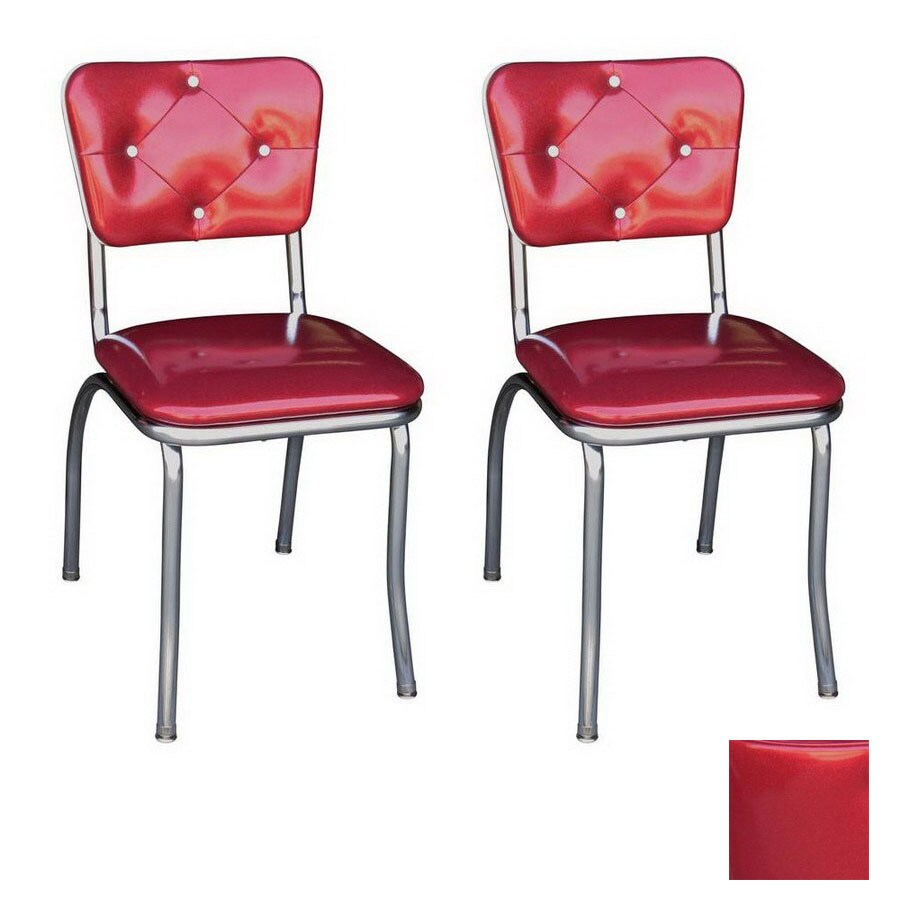 retro chrome chairs 2 person chair richardson seating 50 s stackable dining at lowes com