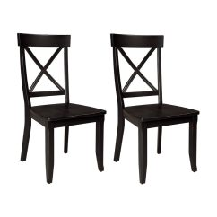 Black Side Chair Medical Waiting Room Chairs Home Styles Set Of 2 At Lowes Com