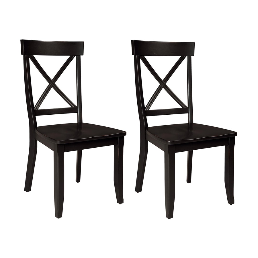 Styles Of Chairs Home Styles Set Of 2 Black Side Chairs At Lowes