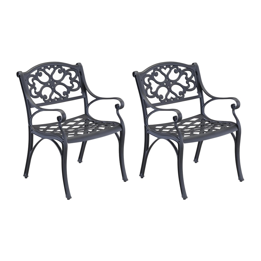 Styles Of Chairs Home Styles Biscayne Set Of 2 Aluminum Dining Chair With Woven At