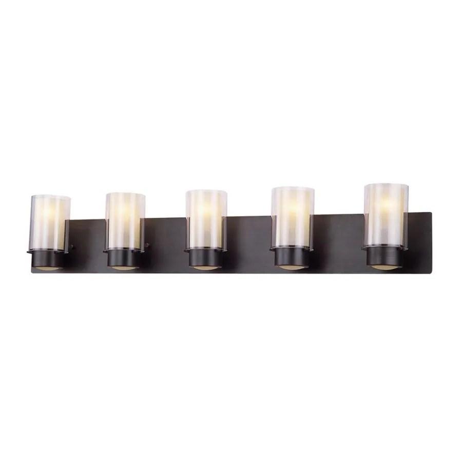 oil rubbed bronze kitchen lighting samples shop dvi essex 5-light 41.75-in oil-rubbed cylinder ...