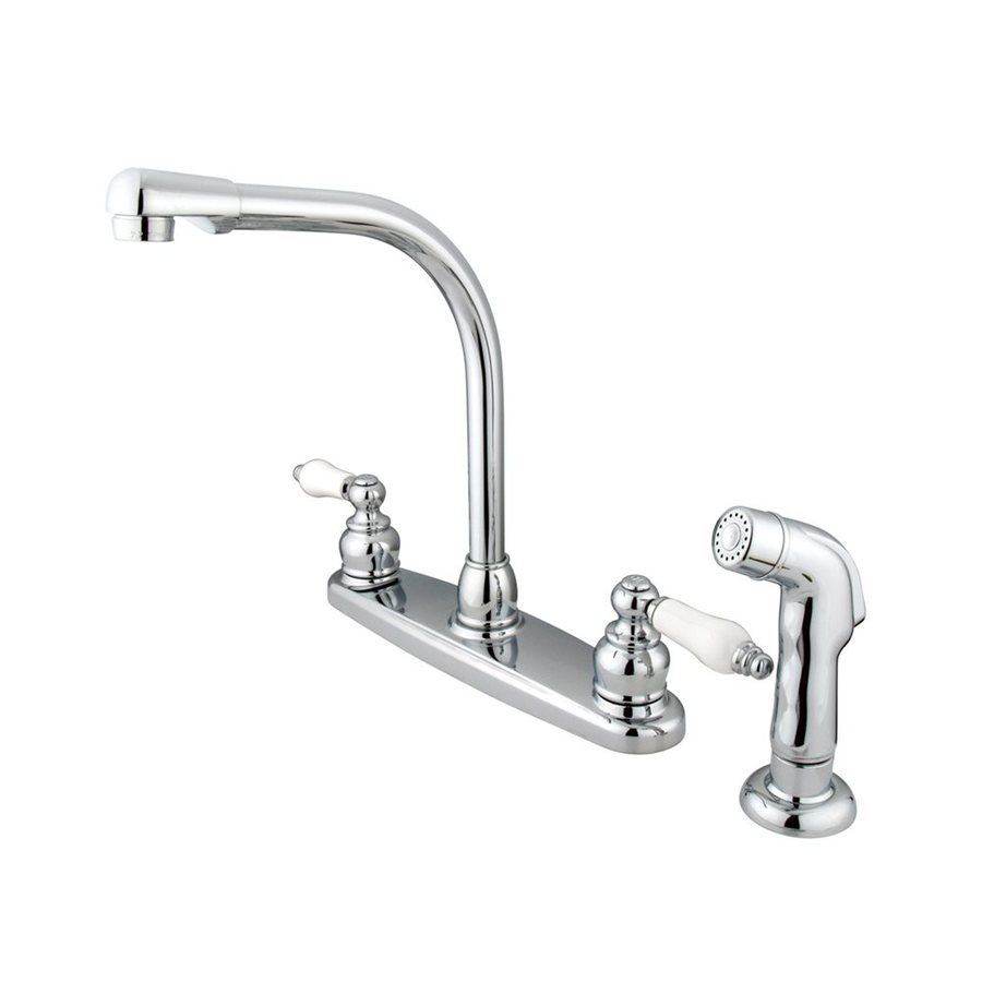 high flow kitchen faucet aerator commercial for sale shop elements of design victorian chrome 2-handle high-arc ...