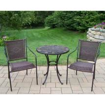 Oakland Living Stone Art 3-piece Bistro Patio