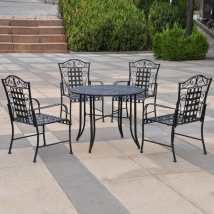International Caravan Mandalay 5-piece Wrought Iron