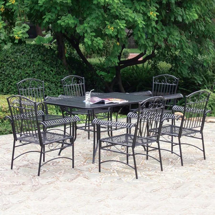 piece wrought iron patio dining