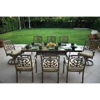 Shop Darlee Santa Barbara 9-Piece Mocha Aluminum Patio ...