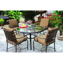 Glass 5 Piece Patio Dining Set