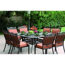 Darlee Charleston 9-piece Antique Bronze Aluminum Patio