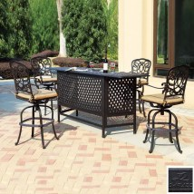 Darlee 5-piece Florence Cushioned Cast Aluminum Patio Bar