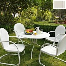 Crosley Furniture Griffith 5-piece White Metal Frame Patio