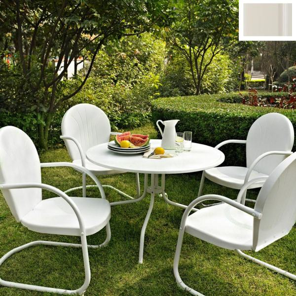 White Metal Patio Furniture Sets