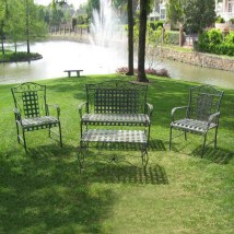 International Caravan 4-piece Iron Patio Furniture