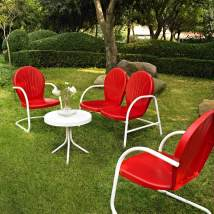 Crosley Furniture Griffith 4-piece Steel Frame Patio