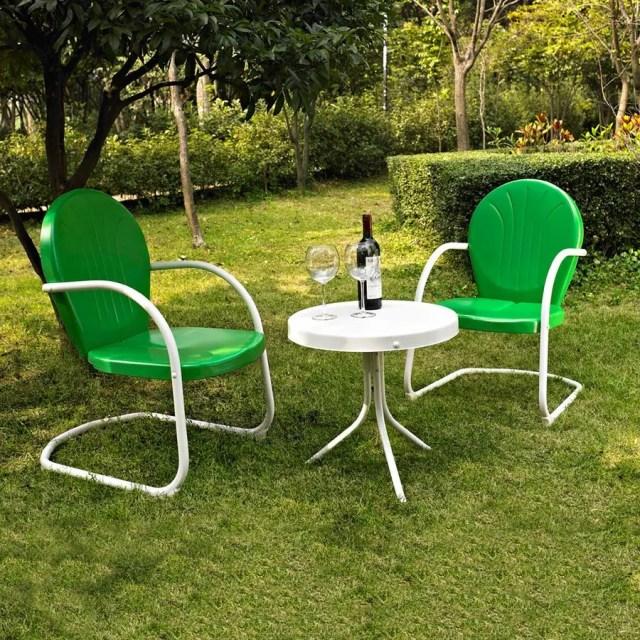 crosley furniture griffith 3-piece steel frame patio conversation