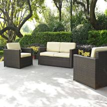 Crosley Furniture Palm Harbor 3-piece Wicker Patio