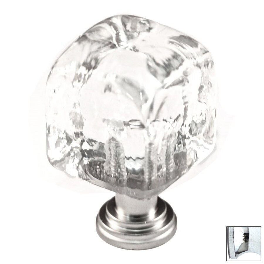 Shop Cal Crystal Polished Chrome Artx Square Cabinet Knob