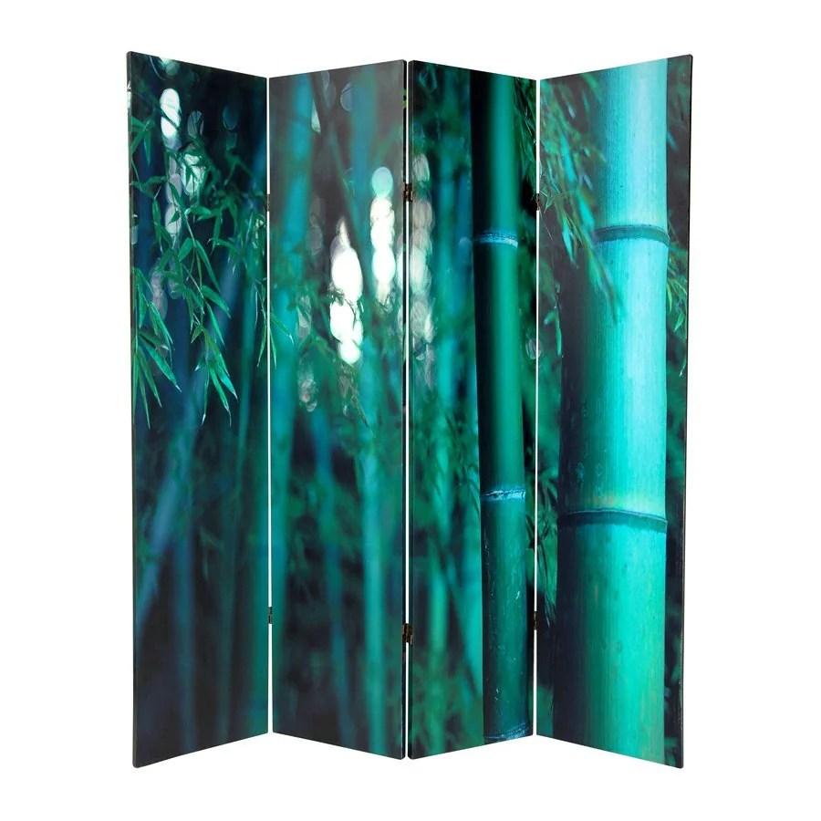 light green living room decor gray walls shop oriental furniture bamboo tree 4-panel fabric ...