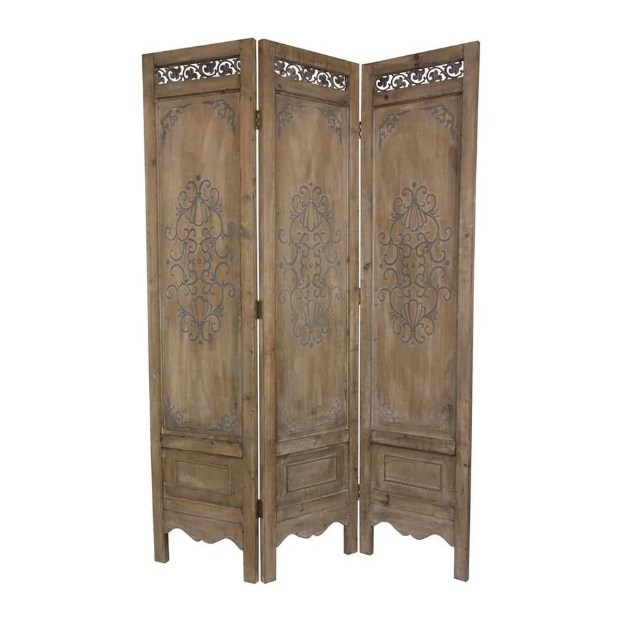 Shop Oriental Furniture Scrollwork 3 Panel Antique