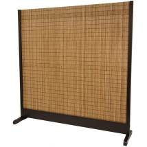Oriental Furniture 1-panel Walnut Bamboo Indoor Privacy