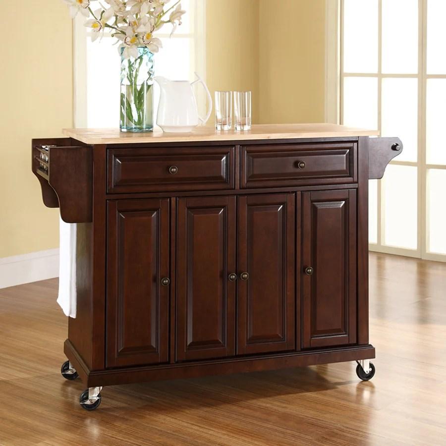 crosley kitchen islands affordable kitchens shop furniture brown craftsman island at ...
