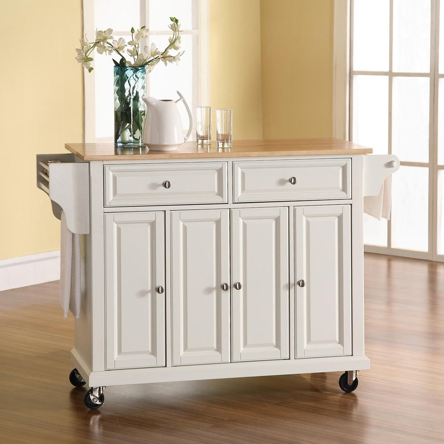 crosley kitchen islands cabinets lexington ky shop furniture 52-in l x 18-in w 36-in h white ...