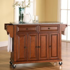 Crosley Kitchen Cart Complete Remodel Shop Furniture Brown Craftsman Island At ...
