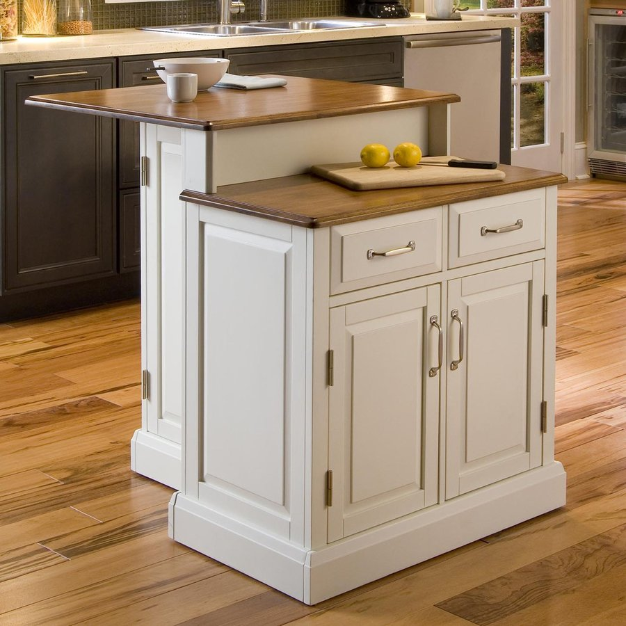 Shop Home Styles White Midcentury Kitchen Islands at Lowes.com