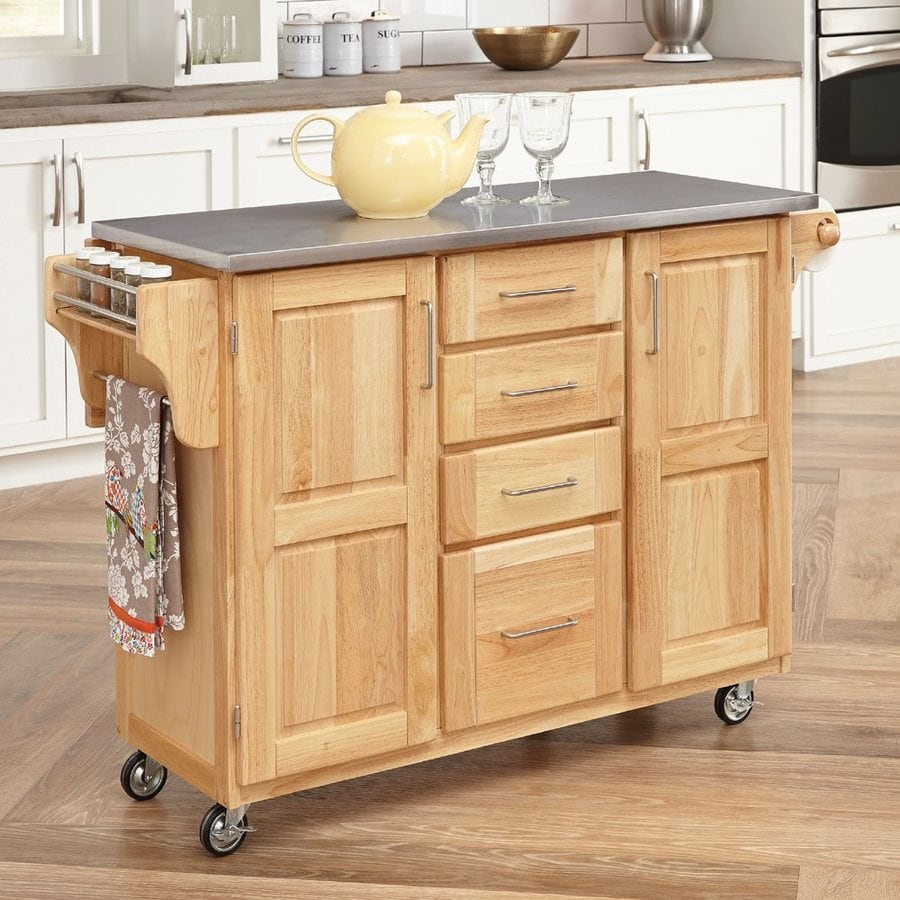Home Styles Brown Scandinavian Kitchen Carts at Lowescom