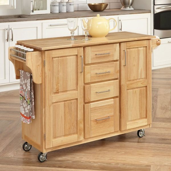 Home Styles 52.5-in L X 18-in 36-in Natural