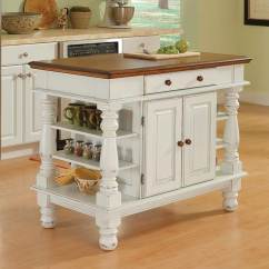 Islands Kitchen Plastic Cabinets Home Styles White Farmhouse At Lowes Com