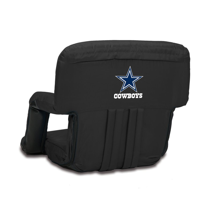 dallas cowboys folding chairs glider rocking chair cushion covers picnic time indoor outdoor steel black bleacher
