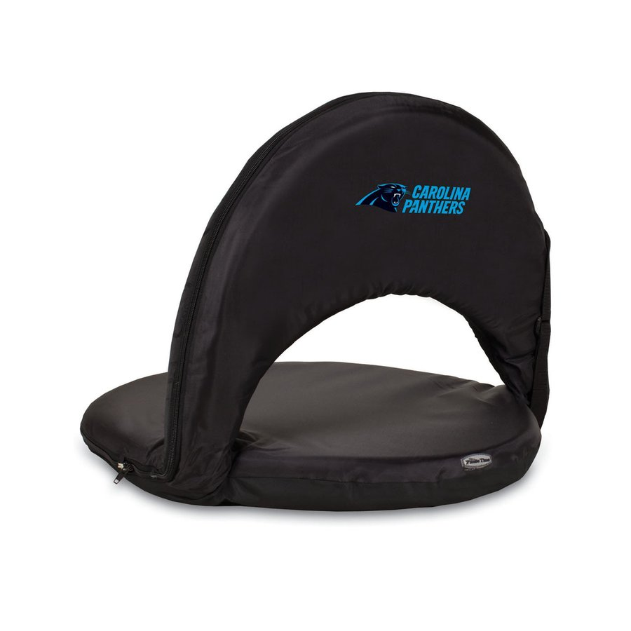 carolina panthers folding chairs hampton bay patio picnic time indoor outdoor steel black bleacher chair