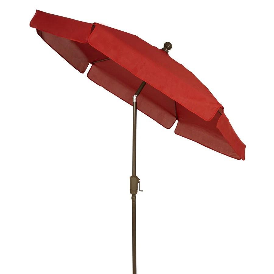 Fiberbuilt Red Market 75ft Hexagon Patio Umbrella with