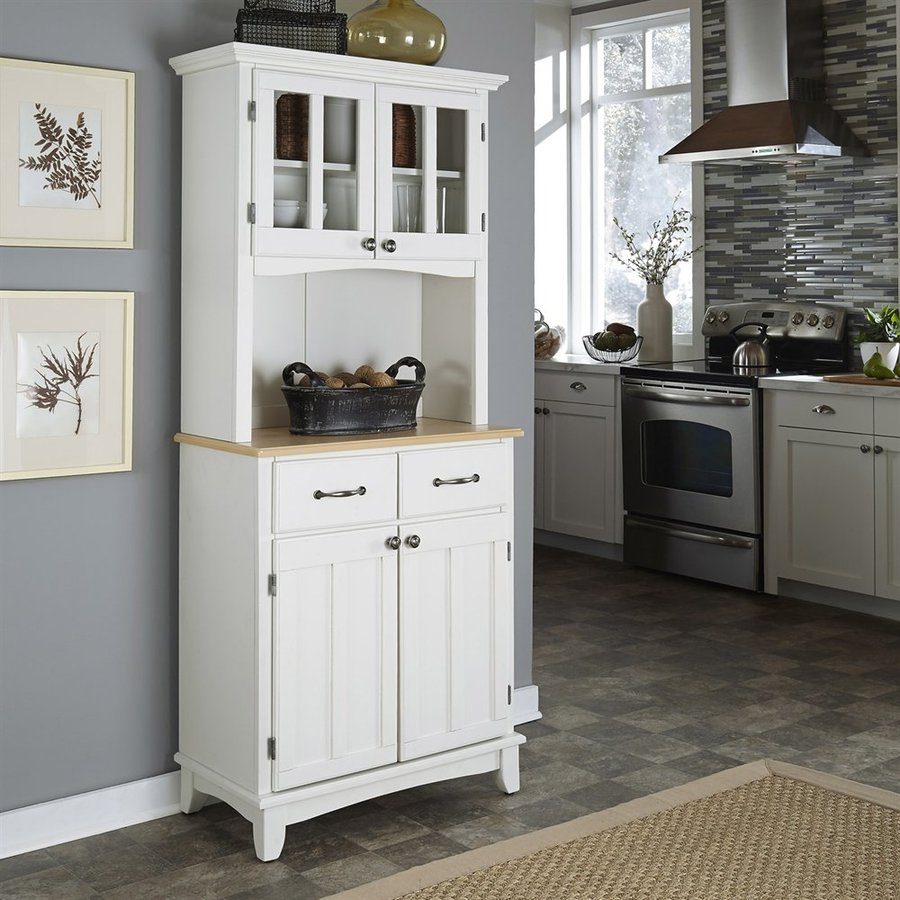 kitchen hutch furniture cart home depot styles white natural wood at lowes com