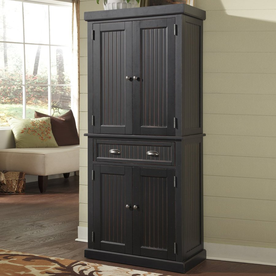 ikea kitchen hutch inexpensive tables shop home styles nantucket distressed black wood ...