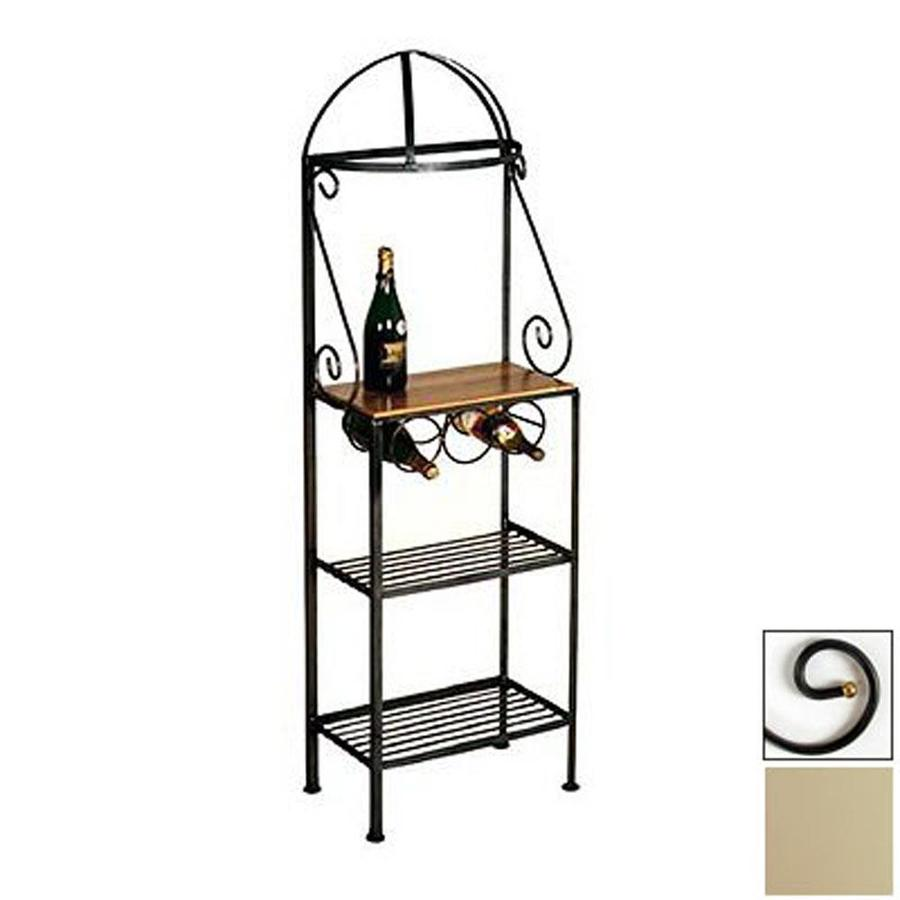 Grace Collection Gourmet Stone Metal Bakers Rack With Wine