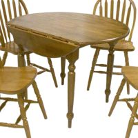Shop TMS Furniture Oak Wood Round Extending Dining Table ...