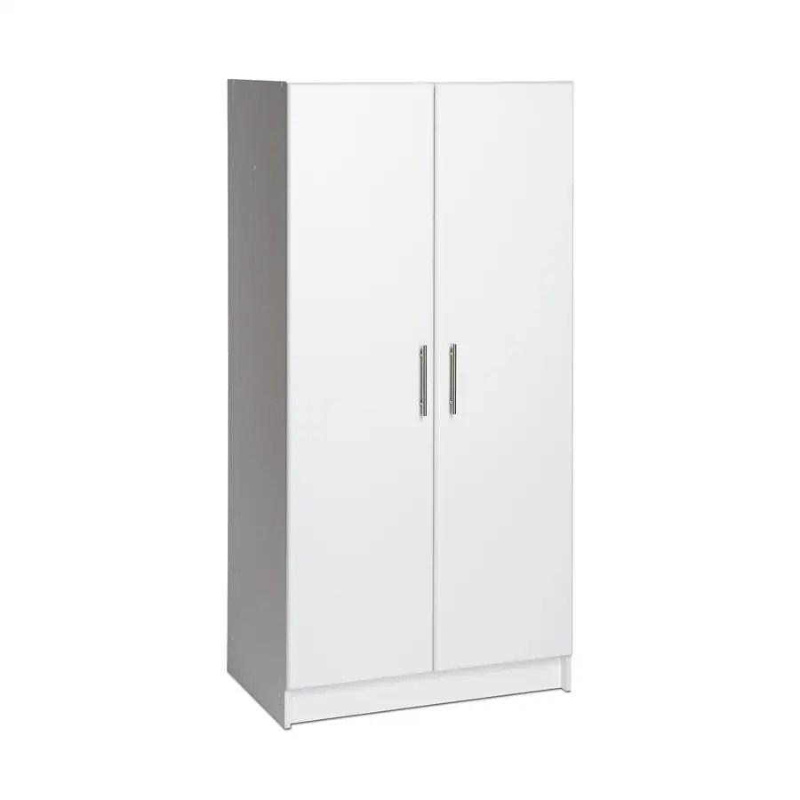 prepac elite white armoire