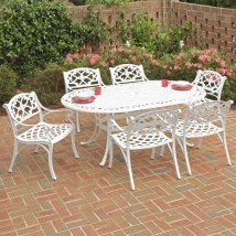Home Styles Biscayne 7-piece White Aluminum Patio