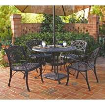 Home Styles Biscayne 5-piece Black Aluminum Patio