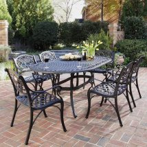 Home Styles Biscayne 7-piece Black Metal Frame Patio