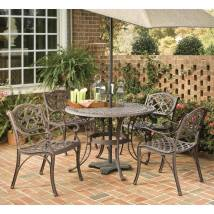 Home Styles Biscayne 5-piece Rust Brown Aluminum