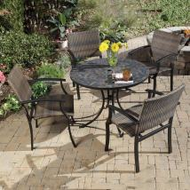 Home Styles Stone Harbor 5-piece Slate Patio