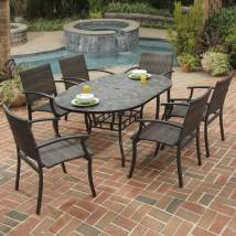 Home Styles Stone Harbor 7-piece Slate Patio