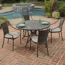 Home Styles Stone Harbor 5-piece Metal Frame Wicker Patio