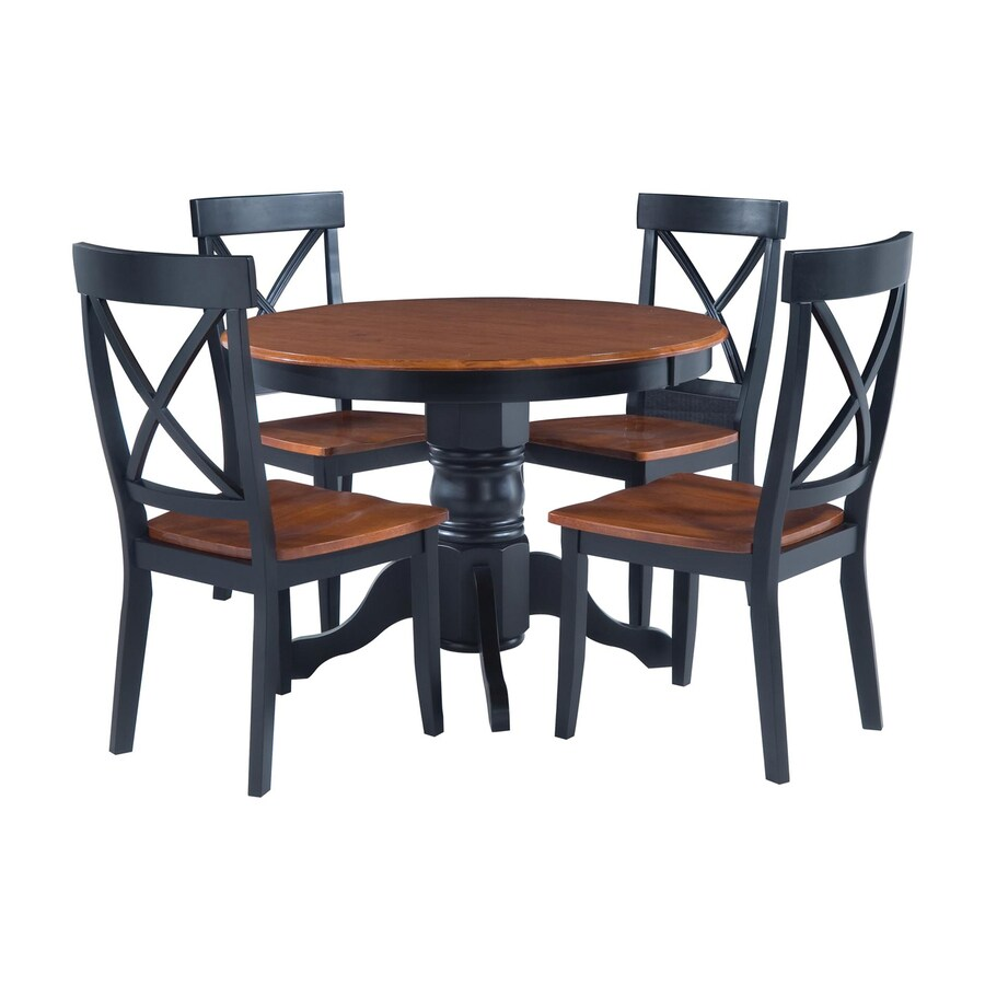 round black kitchen table drawer handles home styles cottage oak 5 piece dining set with