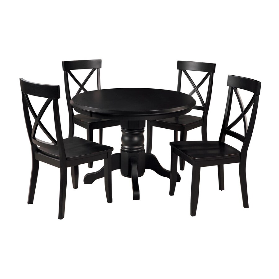 black dining table and chairs dental chair with accessories home styles 5 piece set round at