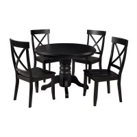 Shop Home Styles Black 5-Piece Dining Set with Round ...